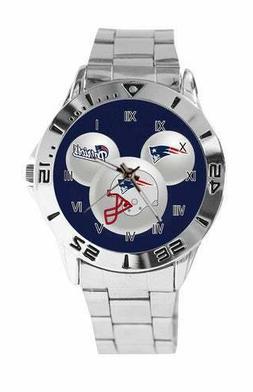 NEW New England Patriots Custom Logo Stainless Steel Wrist W
