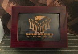 NEW New England Patriots Super Bowl Championship Ring Box 6X