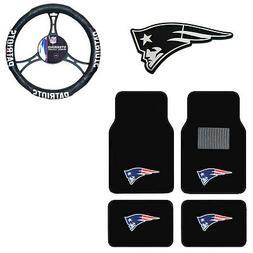 New NFL New England Patriots Car Truck Floor Mats Steering W