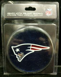 New Sealed England Patriots Chrome Trailer Hitch Cover Fine