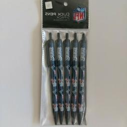 NFL New England Patriots Disposable Black Ink Click Pens, 5-