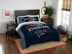 NFL New England Patriots Draft Full/Queen Comforter and 2 Sh