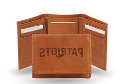 NFL New England Patriots Embossed Leather Trifold Wallet, 5""