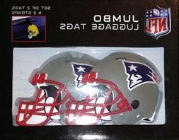 NFL New England Patriots Jumbo Luggage Tags And Straps Set o