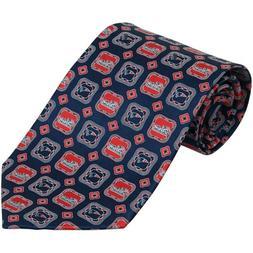 NFL New England Patriots Medallion Silk Tie - Navy Blue