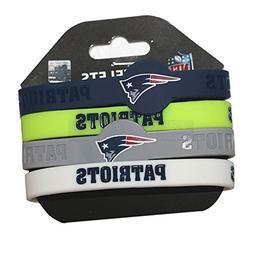 NFL New England Patriots Silicone Rubber Wrist Band Bracelet