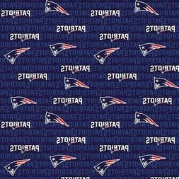 NFL Football New England Patriots 2018 Logo Names 18x29 Fabr