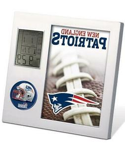 NFL NEW ENGLAND PATRIOTS FOOTBALL TEAM DIGITAL DESK CLOCK AL