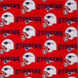 "NFL Football New England Patriots Helmets 18x29"" Cotton Fabr"