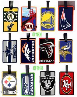 NFL Football Team Soft Luggage ID Bag Tags /Gym bag