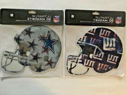 NFL Indoor/Outdoor Car Helmet Magnet Giants, Cowboys, Jets,