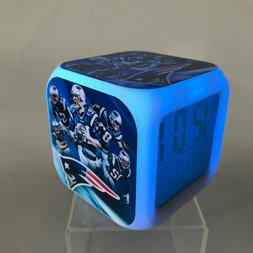 New England Patriots LED Digital Alarm Clock Watch Lamp Gift