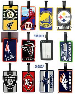 NFL,MLB,NBA Soft Luggage Bag Tags-Pick Your Team