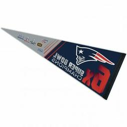 "NFL New England Patriots Wincraft 6X Super Bowl Champs 12"" X"