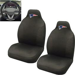 NFL New England Patriots Car Truck 2 Front Seat Covers Steer