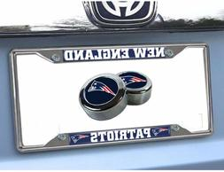 NFL New England Patriots Car Truck Chrome Metal License Plat