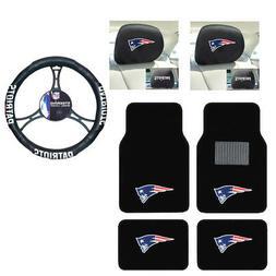 NFL New England Patriots Car Truck Floor Mats Steering Wheel