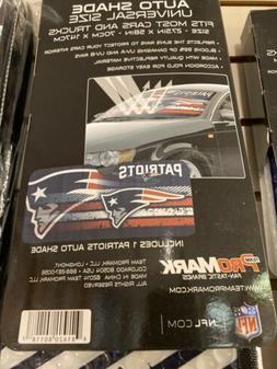 NFL New England Patriots Car Truck Windshield Folding Front
