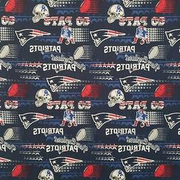 NFL New England Patriots Cotton Fabric by the 1/4,1/2,Yard,