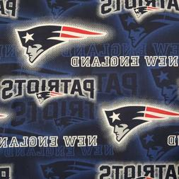 NFL New England Patriots Dot Cotton Fabric by the 1/4,1/2,Ya