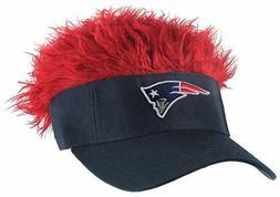 NFL New England Patriots Flair Hair  Navy Visor Adjustable F