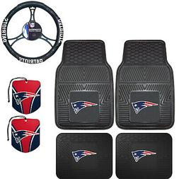 NFL New England Patriots Floor Mats Steering Wheel Cover & A