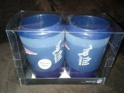 NFL New England Patriots Freezable Can Cooler *SET OF 2* pla