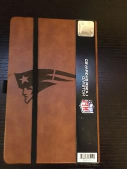 NFL New England Patriots Laser Engraved Leather Style Notepa