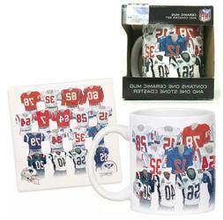 NFL New England Patriots Legacy Uniform Coffee Cup Mug & Coa