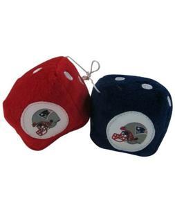 NFL New England Patriots Plush Fuzzy Dice Auto Accessories