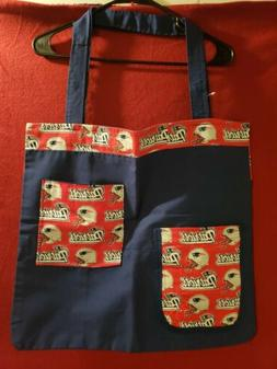 NFL New England Patriots Tote/Bingo/Grocery Large Size Bag.