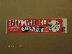 NFL New England Patriots Vintage 1985 AFC Champions Team Log