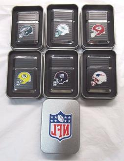 NFL Windproof Refillable Butane Lighter w/Gift Box By FSO Fo