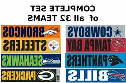 PICK TEAM, or SET of NFL BUMPER STICKERS LARGE VINYL HIGH QU