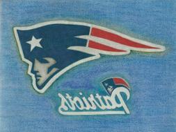 Prison Art of New England Patriots Logo Artwork Drawing On S
