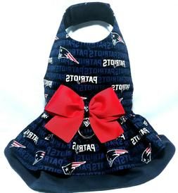 New England Patriots Dog Harness Vest Dress ~ Newborn XXXS X