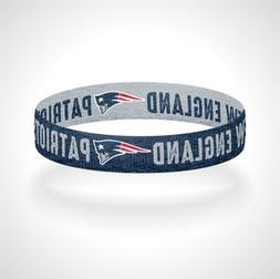 Reversible New England Patriots Bracelet Wristband Go Pats S
