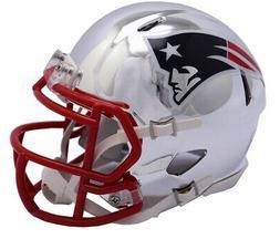 Riddell Speed NFL NEW ENGLAND PATRIOTS Football Helmet Chrom