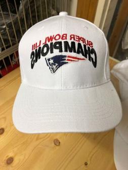Super Bowl Champions LIII New England patriots White Basebal