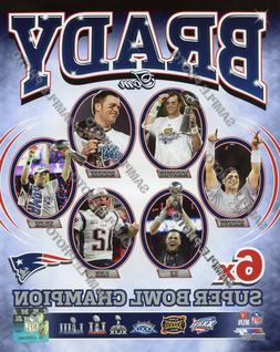 Tom Brady 6X Time Super Bowl Champion New England Patriots A