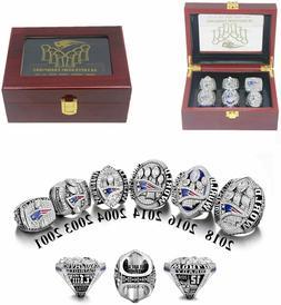 Tom Brady MVP New England Patriots 6 Super Bowl Ring Set Wit