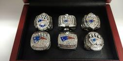 Tom Brady - New England Patriots 6 Super Bowl Ring Set With