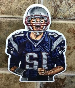 Tom Brady New England Patriots Logo Car Sticker NFL Decal Fo