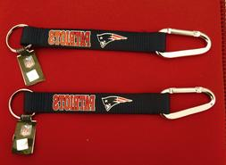 TWO  BEAUTIFUL AND HANDY,NEW ENGLAND PATRIOTS CARABINER KEYC