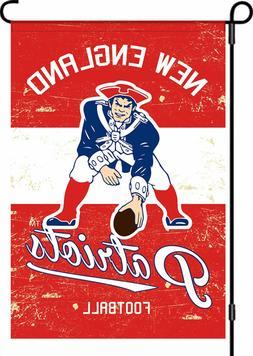 vintage new england patriots garden flag linen