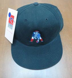 Vintage W/Tags NFL New England Patriots Black Snapback Hat B